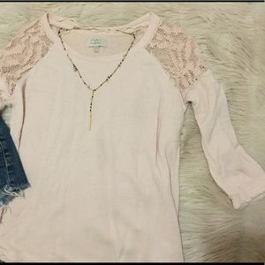 Zara: Pink Sweater with Lace